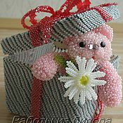 Куклы и игрушки ручной работы. Ярмарка Мастеров - ручная работа Мишутка из бисера. Handmade.