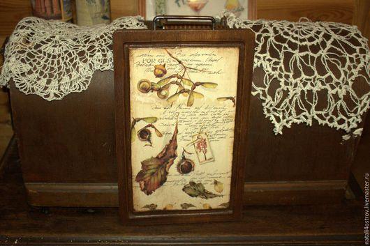 Кухня ручной работы. Ярмарка Мастеров - ручная работа. Купить Кухонные досочки в винтажном стиле. Handmade. Бежевый, натуральные материалы