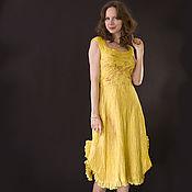 """Одежда ручной работы. Ярмарка Мастеров - ручная работа """"Sunshine"""" авторское платье в технике nuno felting. Handmade."""