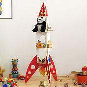 Мебель ручной работы. Ярмарка Мастеров - ручная работа Полка ракета. Handmade.