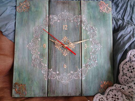 """Часы для дома ручной работы. Ярмарка Мастеров - ручная работа. Купить часы настенные """"Кружево и шелк"""". Handmade. Часы настенные"""