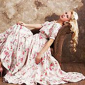 """Одежда ручной работы. Ярмарка Мастеров - ручная работа Платье белое их хлопка """"Poucette"""" от Nicoletta Mares. Handmade."""
