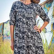 Одежда ручной работы. Ярмарка Мастеров - ручная работа Платье черно- белое с кружевом. Handmade.