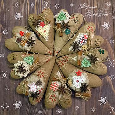 """Куклы и игрушки ручной работы. Ярмарка Мастеров - ручная работа Сердечки Тильда """"Новогодний аромат"""". Handmade."""