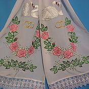 Свадебный салон ручной работы. Ярмарка Мастеров - ручная работа Рушник свадебный, венчальный, вышивка.. Handmade.