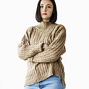 handmade. Livemaster - original item Sweater knitted oversized. Handmade.