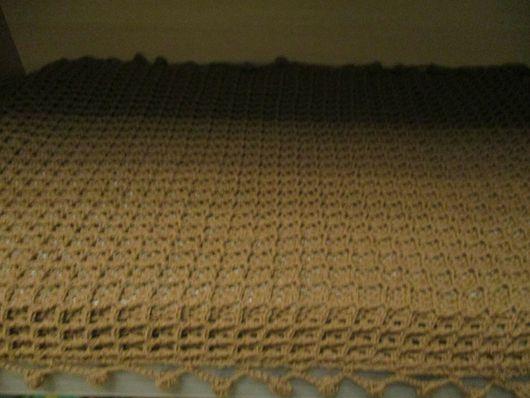 """Текстиль, ковры ручной работы. Ярмарка Мастеров - ручная работа. Купить Покрывало вязаное """"Вафля в шоколаде"""". Handmade. Коричневый, покрывало"""