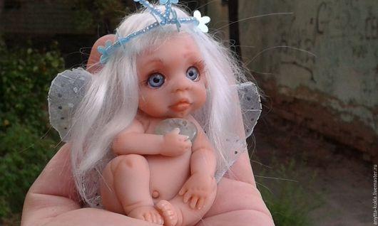 Миниатюра ручной работы. Ярмарка Мастеров - ручная работа. Купить ..Мотылёчек....девочка-бабочка.. Handmade. Бежевый, кукла в подарок, миниатюра
