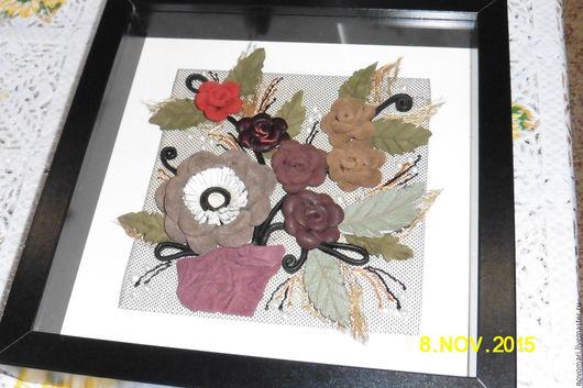 Прихожая ручной работы. Ярмарка Мастеров - ручная работа. Купить Ключница цветы  из натуральной кожи. Handmade. Ключница, черный