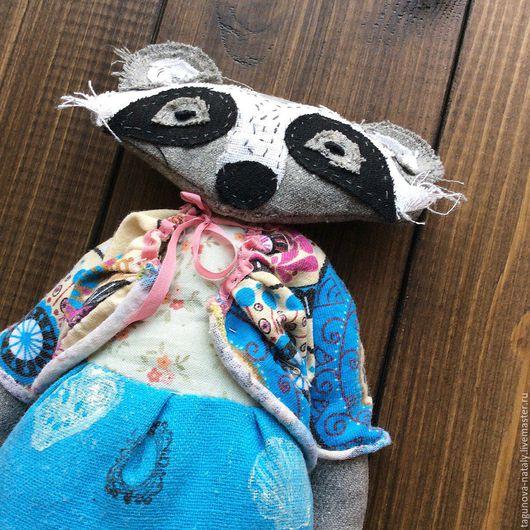 Куклы и игрушки ручной работы. Ярмарка Мастеров - ручная работа. Купить Енот. Handmade. Енот, игрушка енот, текстильная кукла