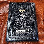 """Подарки к праздникам handmade. Livemaster - original item Ежедневник из натуральной черной кожи """"Ваше сиятельство"""". Handmade."""