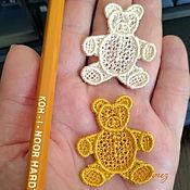 Материалы для творчества handmade. Livemaster - original item Embroidered applique Merry bears stripe termopatch FSL lace free. Handmade.