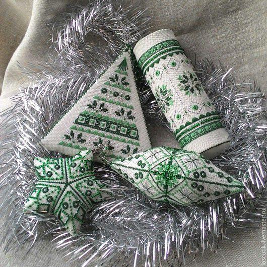 Вышивка ручной работы. Ярмарка Мастеров - ручная работа. Купить Схема для вышивки новогодней игрушки-сосульки. Handmade. Вышивка