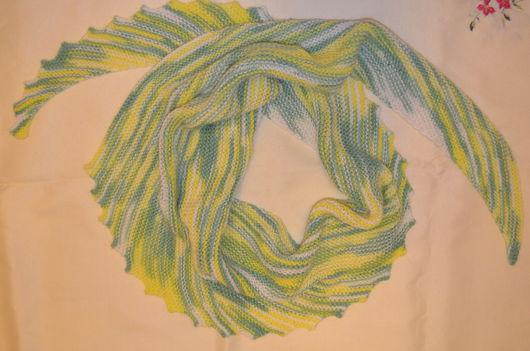 Шарфы и шарфики ручной работы. Ярмарка Мастеров - ручная работа. Купить Шаль-бактус. Handmade. Шарф, полушерсть, ручная работа