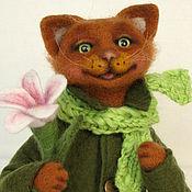 Куклы и игрушки ручной работы. Ярмарка Мастеров - ручная работа Счастливый кот.Игрушка из шерсти.. Handmade.