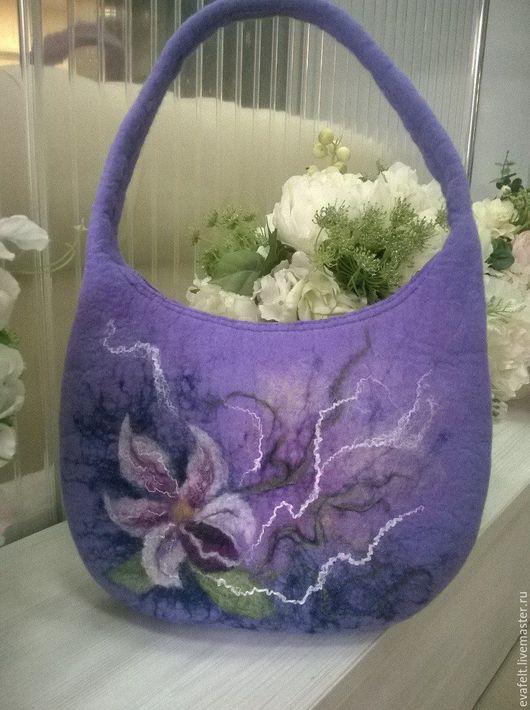 Женские сумки ручной работы. Ярмарка Мастеров - ручная работа. Купить Орхидея. Handmade. Бледно-сиреневый, сумка ручной работы