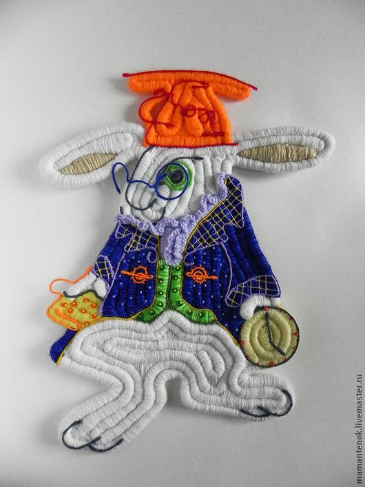 Детская ручной работы. Ярмарка Мастеров - ручная работа. Купить Белый кролик ( Алиса в стране чудес). Handmade. Синий