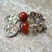 Украшения handmade. Livemaster - original item Earrings in a set of CARNELIAN-CONCISE. Handmade.