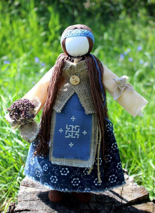 """Народные куклы ручной работы. Ярмарка Мастеров - ручная работа. Купить Кукла-оберег """"Лесная Берегиня"""". Handmade. Тёмно-синий"""