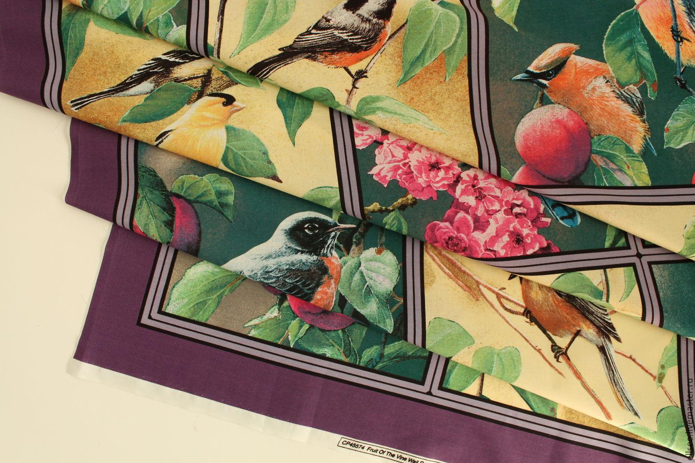 """Панель """"Три или четыре птички"""", Ткань, Владивосток, Фото №1"""