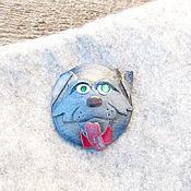 Украшения ручной работы. Ярмарка Мастеров - ручная работа Брошь идиотская собачка. Handmade.