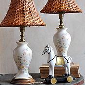 Винтаж ручной работы. Ярмарка Мастеров - ручная работа Винтажные парные лампы. Handmade.