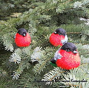 Куклы и игрушки handmade. Livemaster - original item Set on the Christmas tree bullfinches. Handmade.