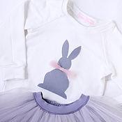 Работы для детей, ручной работы. Ярмарка Мастеров - ручная работа Свитшот с зайчиком. Handmade.