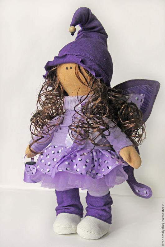Коллекционные куклы ручной работы. Ярмарка Мастеров - ручная работа. Купить Кукла-бабочка. Фиолетовая. Интерьерная кукла.. Handmade. Бабочка