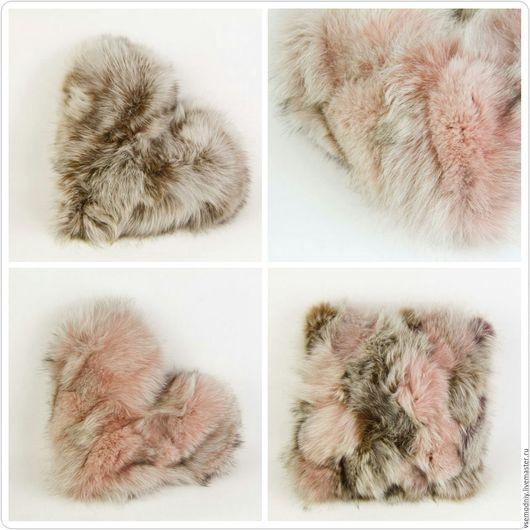 Текстиль, ковры ручной работы. Ярмарка Мастеров - ручная работа. Купить Подушки меховые. Handmade. Комбинированный, подушка на диван
