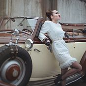 """Одежда ручной работы. Ярмарка Мастеров - ручная работа (-70%)Пальто-платье""""""""White Pride"""". Handmade."""