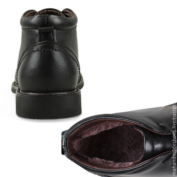 Кожаные мужские зимние ботинки ручной работы. Сергей. Интернет-магазин  Ярмарка 84cc6425cb8