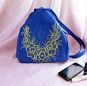 Сумки и аксессуары handmade. Livemaster - original item Bag versatile backpack decorated with embroidery textile. Handmade.