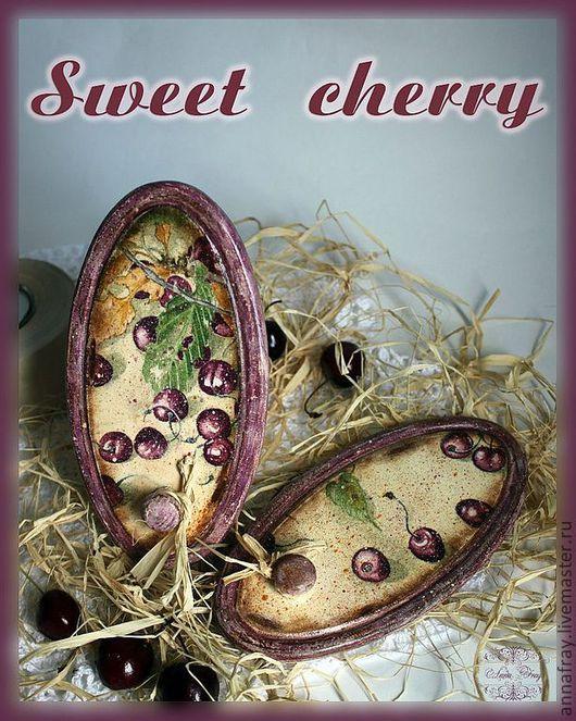 """Кухня ручной работы. Ярмарка Мастеров - ручная работа. Купить Вешалка  """"Sweet Cherry"""". Handmade. Вешалка, фанерная заготовка"""