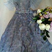 Одежда ручной работы. Ярмарка Мастеров - ручная работа Платье из шелкового шифона с кружевом шантильи. Handmade.