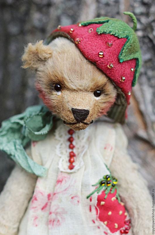 Мишки Тедди ручной работы. Ярмарка Мастеров - ручная работа. Купить Клубничная феерия. Handmade. Мишка тедди, милый подарок