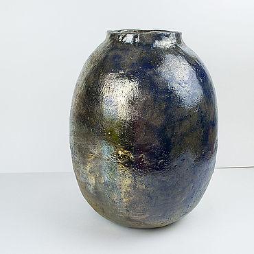 Для дома и интерьера ручной работы. Ярмарка Мастеров - ручная работа Вазы: Синяя ваза раку. Handmade.