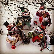 Куклы Тильда ручной работы. Ярмарка Мастеров - ручная работа Снеговик. Handmade.