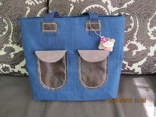 Женские сумки ручной работы. Ярмарка Мастеров - ручная работа. Купить Текстильная сумка - Техас. Handmade. Тёмно-синий