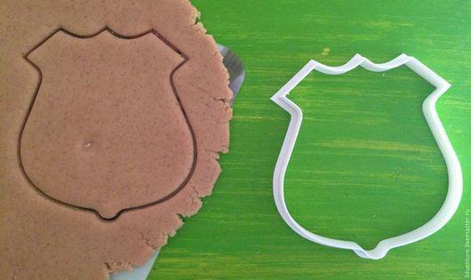 Кухня ручной работы. Ярмарка Мастеров - ручная работа. Купить Форма для печенья Полицейский значок. Handmade. Разноцветный, формочка для печенья