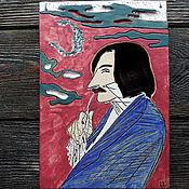Картины и панно ручной работы. Ярмарка Мастеров - ручная работа Гоголь (керамическое панно). Handmade.