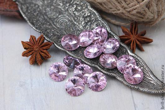 Для украшений ручной работы. Ярмарка Мастеров - ручная работа. Купить Риволи 14 мм Pink (Розовый). Handmade. rivoli