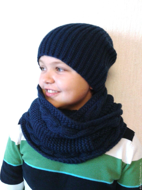 Шапка и шарф труба купить