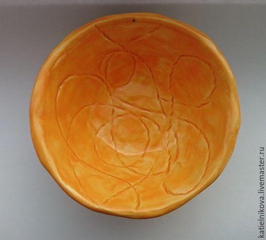 """Пиалы ручной работы. Ярмарка Мастеров - ручная работа. Купить Пиала """"Оранжевое настроение"""". Handmade. Оранжевый, керамическая посуда, подарок"""