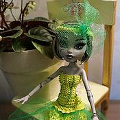 Куклы и игрушки ручной работы. Ярмарка Мастеров - ручная работа Вечерние зелёные платья Monster High (МонстрХай). Handmade.