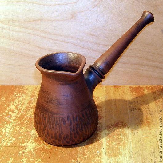 Чайники, кофейники ручной работы. Ярмарка Мастеров - ручная работа. Купить турка №1. Handmade. Керамика, турка для кофе, глина