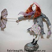 """авторская кукла """"Строптивый зонтик"""""""