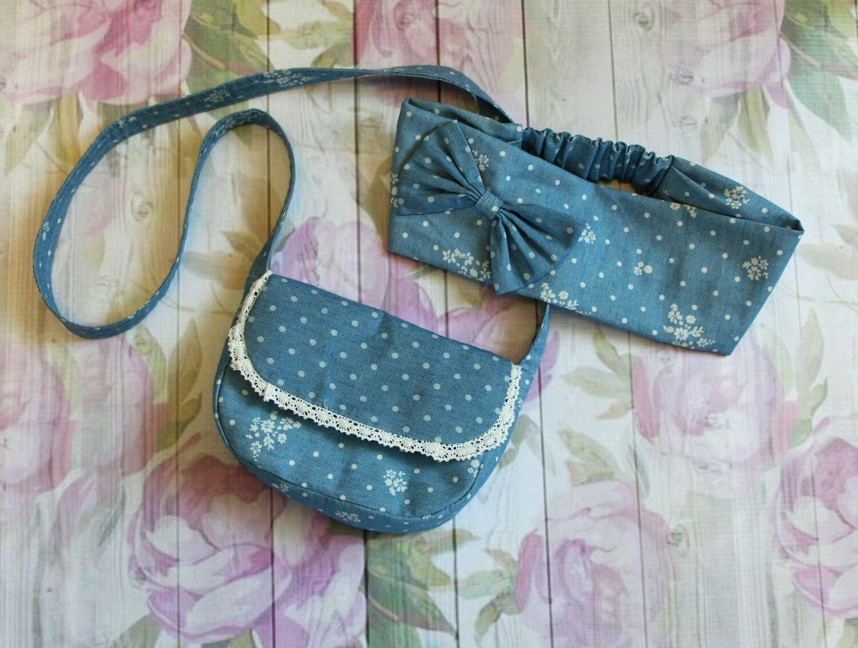Джинсовая сумочка с повязкой для головы, Сумки, Кущевская,  Фото №1