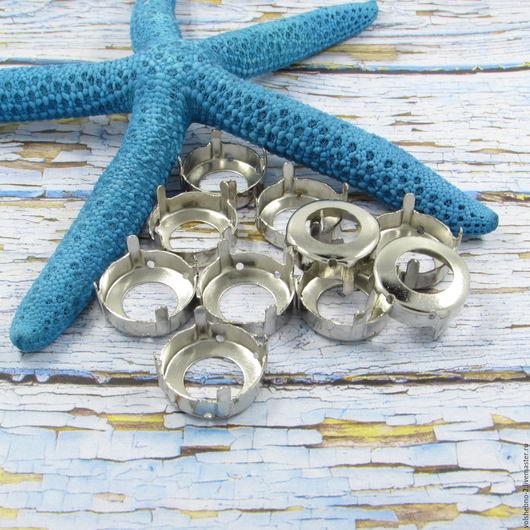Для украшений ручной работы. Ярмарка Мастеров - ручная работа. Купить 16 мм пришивные цапы для кристаллов нашивные цапы для страз. Handmade.
