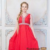 """Одежда ручной работы. Ярмарка Мастеров - ручная работа Платье """"Жива"""" красное. Handmade."""
